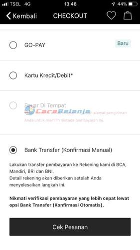 Bank Transfer Konfirmasi Manual