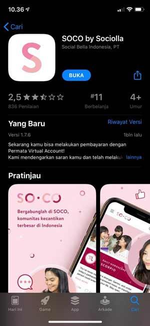 Unduh Aplikasi Sociolla 1