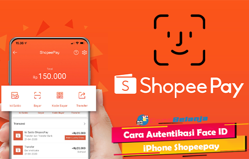 Cara Autentikasi Face ID iPhone Shopeepay