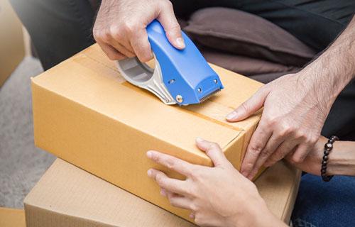 Packing Dilapisi Plastik Lakban