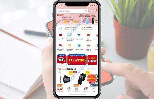 Buka Aplikasi Shopee Lewat HP