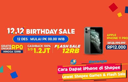 Cara Dapat iPhone di Shopee Lewat Shopee Games Flash Sale