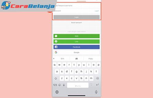 1 Login Aplikasi Shopee