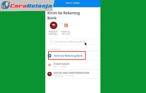 4 Klik Tambah Rekening Bank