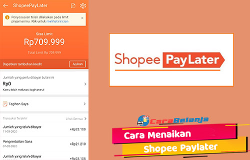 ara Menaikan Limit Shopee Paylater