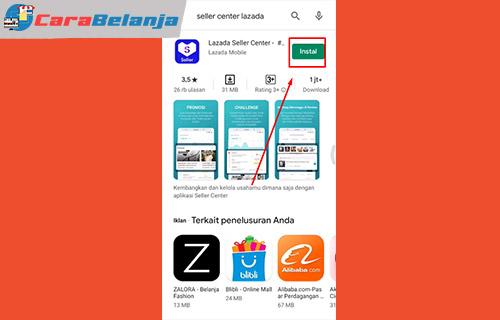 1 Download Aplikasi Lazada Seller