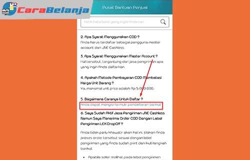 5 Klik Link Formulir Pendaftaran