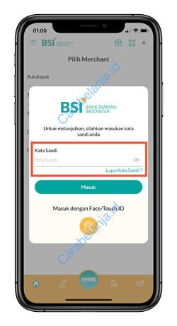 10 Masukan Kata Sandi BSI Mobile 1
