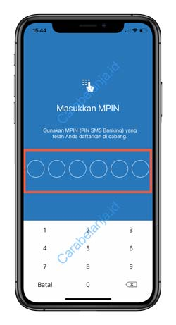 16 Input MPIN Mandiri Online