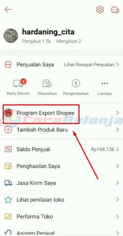2 Klik Program Ekspor Shopee