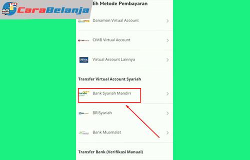 4 Pilih Pembayaran Cara Bayar Tokopedia Pakai BSI Mobile