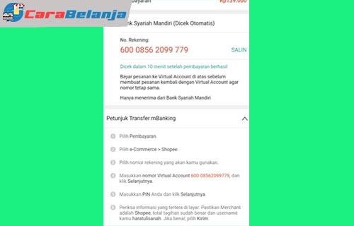 5 Konfirmasi dan Salin Cara Bayar Tokopedia Pakai BSI Mobile