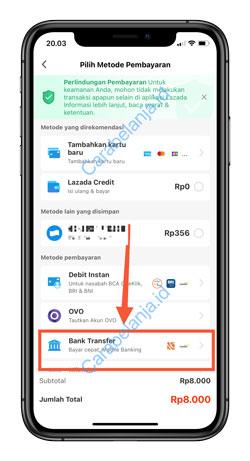 6 Klik Transfer Bank