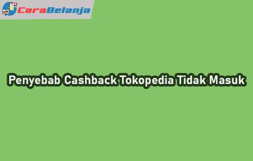 Penyebab Cashback Tokopedia Tidak Masuk
