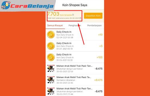 1 Masa Aktif Koin Shopee Hilang