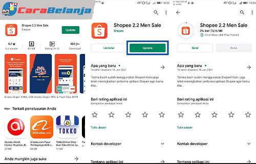 1 Update Aplikasi Shopee