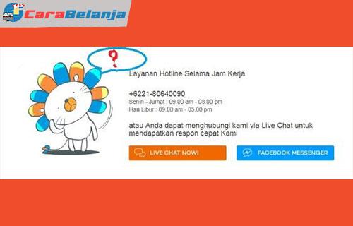 4 Hubungi Call Center Lazada