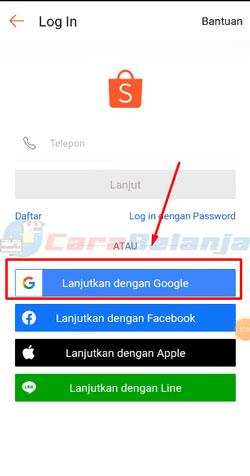 5 Klik Login dengan Google
