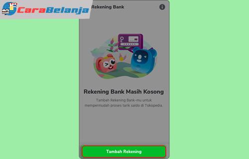 Cara Menambah Rekening Bank di Tokopedia