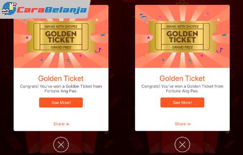Pengertian Apa Itu Golden Ticket Shopee
