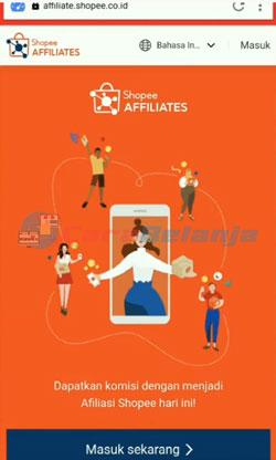 1 Buka Link Shopee Affiliates Program