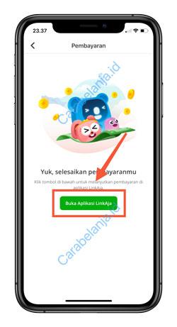 8 Klik Buka Aplikasi LinkAja