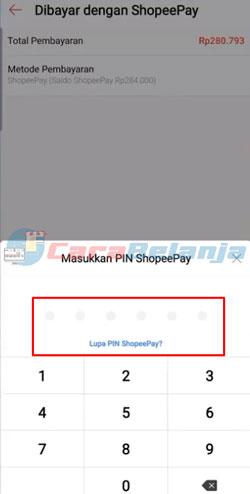 11 Input PIN ShopeePay
