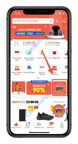 2 Klik Iklan Banner Bonus Shopee 2 Juta