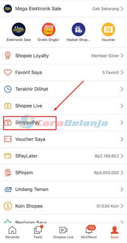 3 Klik Menu ShopeePay