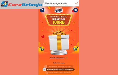 Keuntungan Voucher Shopee Kangen Kamu 100RB