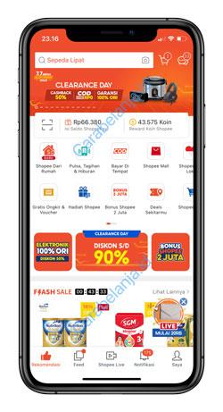 1 Jalankan Aplikasi Shopee 1