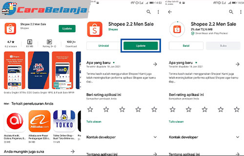 2 Update Aplikasi Shopee