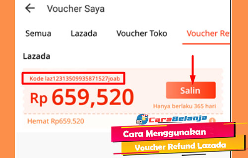 Cara Menggunakan Voucher Refund Lazada