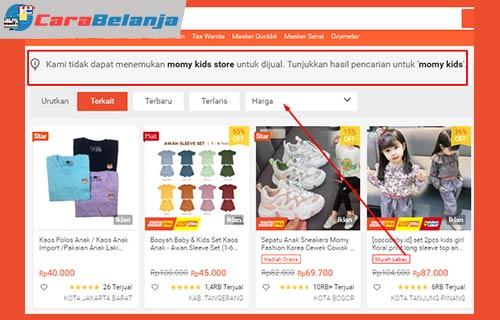 Penyebab Nama Toko Tidak Muncul di Pencarian Shopee
