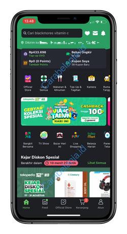 1 Buka Aplikasi Tokopedia 2