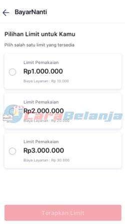 5 Pilih Limit