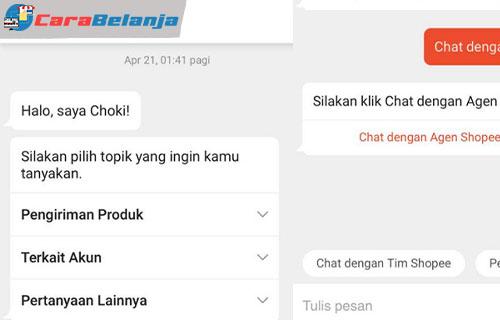 1 Chat dengan Shopee