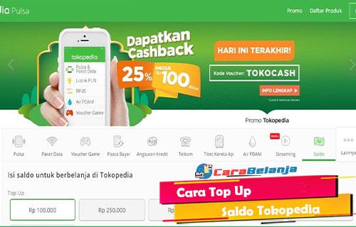 Cara Top Up Saldo Tokopedia 2021 M Banking Indomaret Alfamart