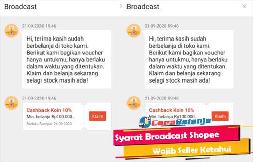 Syarat Broadcast Shopee Wajib Seller Ketahui