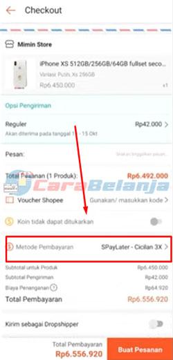 3 Pilih Metode Pembayaran Shopee Paylater