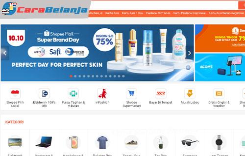 Cara Melihat Barang Favorit di Shopee Lewat Web PC